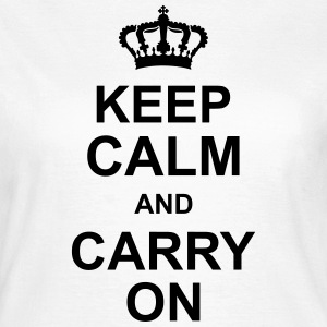 keep_calm_and_carry_on_g1 T-Shirts - Women's T-Shirt