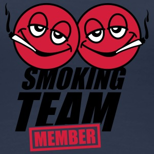 Smoking Team Member Smileys T-shirts - Vrouwen Premium T-shirt