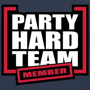 Party Hard Team Member T-shirts - Dame premium T-shirt