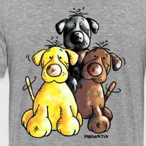 Labrador Retriever - Dog - Cartoon T-Shirts - Men's Premium T-Shirt
