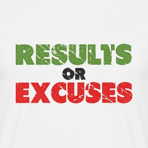Results or Excuses | Vintage Style T-Shirts - Men's T-Shirt