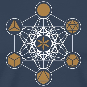 Metatrons Cube, Platonic Solids, Flower of Life T-Shirts - Men's Premium T-Shirt