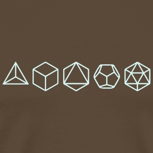 Platonic Solids, Sacred Geometry, Mathematics T-Shirts - Men's Premium T-Shirt