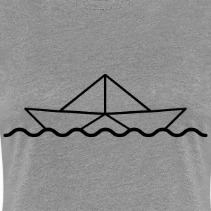 Swimming Paper Boat T-Shirts - Frauen Premium T-Shirt