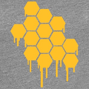 Honeycombs Pattern T-shirts - Dame premium T-shirt