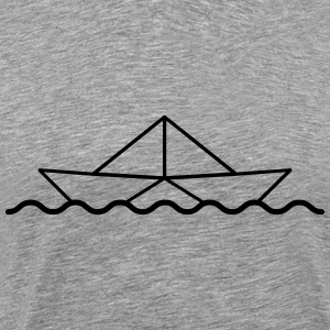 Swimming Paper Boat T-shirts - Mannen Premium T-shirt