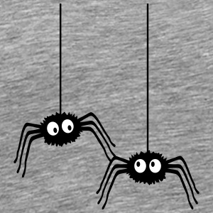Funny Spiders T-shirts - Herre premium T-shirt
