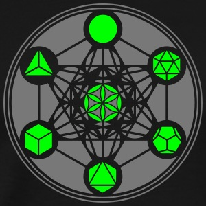 Platonic Solids, Metatrons Cube, Flower of Life T- - Men's Premium T-Shirt