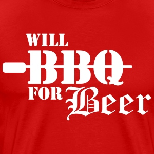 Will BBQ for Beer T-Shirts - Men's Premium T-Shirt