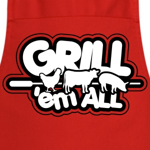 Grill 'em all  Aprons - Cooking Apron