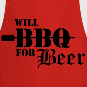 Will BBQ for Beer  Aprons - Cooking Apron