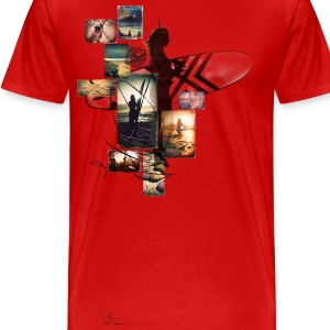 surfergirl collage T-Shirts - Männer Premium T-Shirt