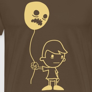 Boy with Ballon - Männer Premium T-Shirt