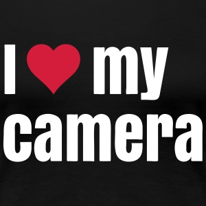 I love my camera T-Shirts - Frauen Premium T-Shirt