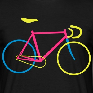Schwarz Fixie Bike colored T-Shirts - Männer T-Shirt