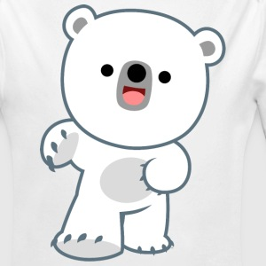 Cute Laughing Polar Bear Cub by Cheerful Madness!! - Longlseeve Baby Bodysuit