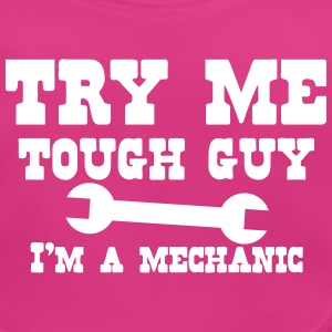 TRY ME tough guy I'm a mechanic with spanner Accessories - Baby Organic Bib