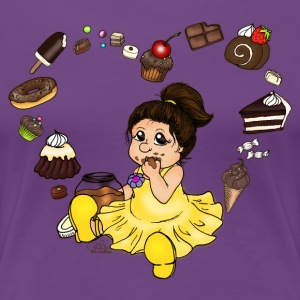 Paars Chocolate and Candy T-shirts - Vrouwen Premium T-shirt