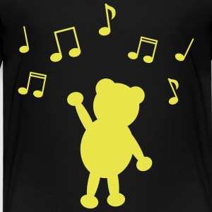 music teddy musik teddy T-shirts - Premium-T-shirt barn