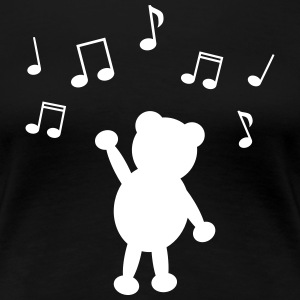music teddy music teddy T-shirts - Dame premium T-shirt