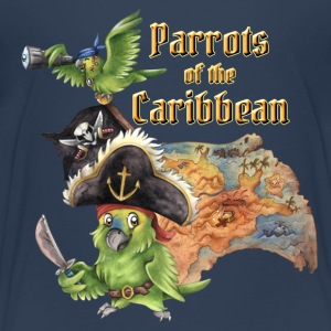 Parrots of the Caribbean Kids T-Shirts - Kinder Premium T-Shirt