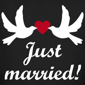 Just Married! bruiloft Team Nlvrijgezellenfeest T-shirts - Mannen Bio-T-shirt