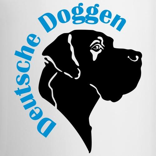 Doggenkopf Deutsche Doggen Schriftzug Bogen
