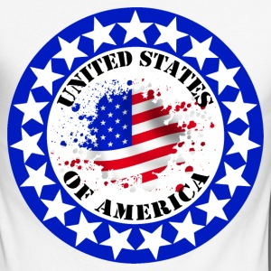 usa united states 08 Long sleeve shirts - Men's Long Sleeve Baseball T-Shirt