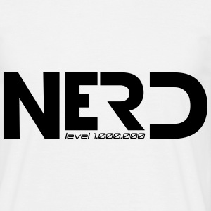 nerd level 1000000 T-shirts - Mannen T-shirt