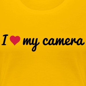 i love my camera j'aime mon appareil photo Tee shirts - T-shirt Premium Femme
