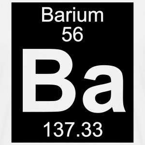 Element  56 - ba (barium) - Inverse (Full) T-shirts - T-shirt herr