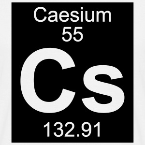 Element  55 - cs (caesium) - Inverse (Full) T-shirts - Mannen T-shirt