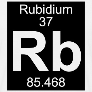 Element  37 - rb (rubidium) - Inverse (Full) T-shirts - Herre-T-shirt