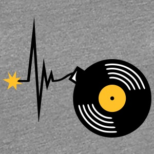 Heartbeat Vinyl Party Bomb T-shirts - Vrouwen Premium T-shirt