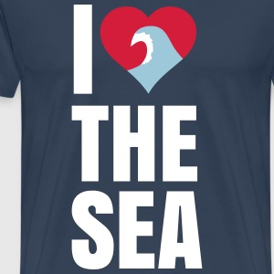 i love the sea ik hou van de zee T-shirts - Mannen Premium T-shirt