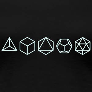 Platonic Solids, Sacred Geometry, Mathematics T-skjorter - Premium T-skjorte for kvinner