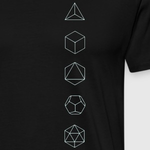 Platonic Solids, Sacred Geometry, Mathematics T-skjorter - Premium T-skjorte for menn