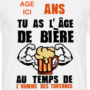 ajouter age ans age biere homme taverne Tee shirts - T-shirt Homme