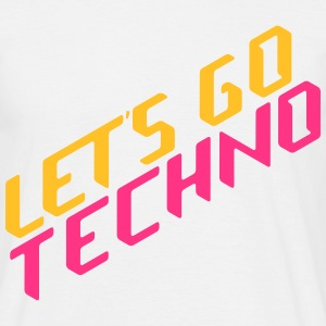 let's go techno T-shirts - Herre-T-shirt