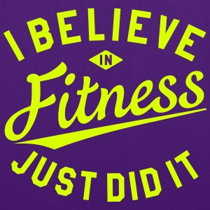I BELIEVE IN FITNESS Bags & backpacks - Tote Bag