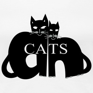 Black cats - Frauen Premium T-Shirt