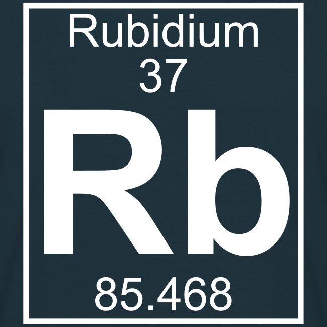 Periodic Table Words Rubidium Rb Element 37 Full 1 Col Shirt