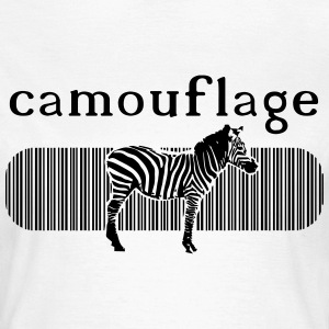 Camouflage Zebra Shirt for Girls - Frauen T-Shirt