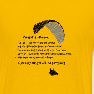Paragliding is like Sex 2 - Männer Premium T-Shirt