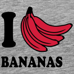 I Love Bananas T-Shirts - Men's Premium T-Shirt