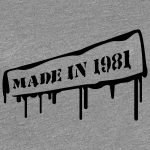 Made In 1981 T-shirts - Vrouwen Premium T-shirt