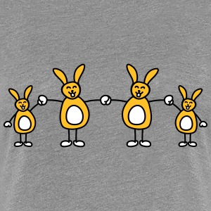 Funny Bunny Family Design Tee shirts - T-shirt Premium Femme