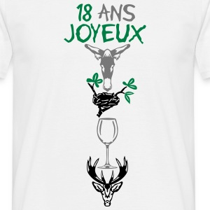 18 ans ane nid verre cerf rebus Tee shirts - T-shirt Homme
