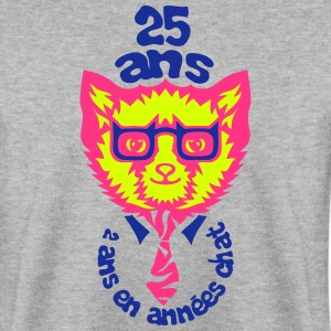 25 ans annee chat anniversaire Sweat-shirts - Sweat-shirt Homme