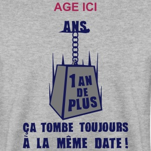 ajouter age ans poids date anniversaire Sweat-shirts - Sweat-shirt Homme